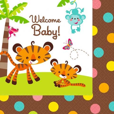 Bilde av Servietter Baby Shower Gutt&Jente 33cm 16stk