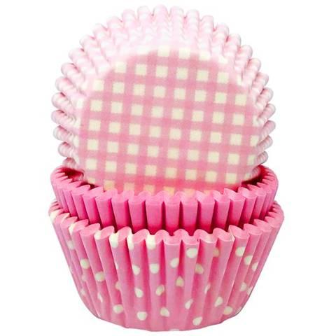 Bilde av Muffinsformer Rosa 3 Motiver 75stk