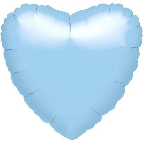 Bilde av Metallic Blå Perle Hjertet Ballong Folie 44 cm