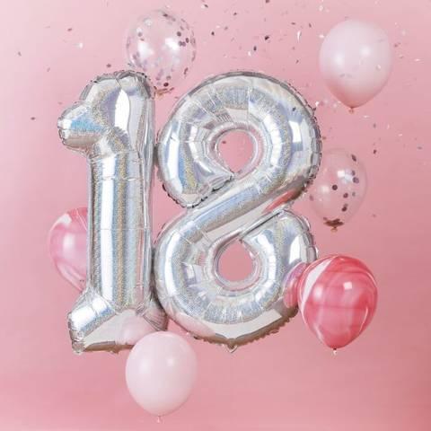 Bilde av Tallballong Sølv Folie 18 år 92cm