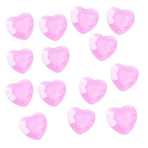 Bilde av Konfetti Rosa Hjerter Diamanter 80stk