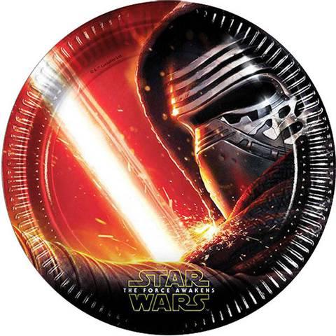 Bilde av Star Wars The Force Awakens Papptallerkner 23cm 8stk