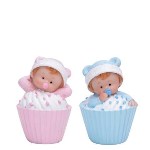 Bilde av Baby i Muffins Blå/Rosa 1stk