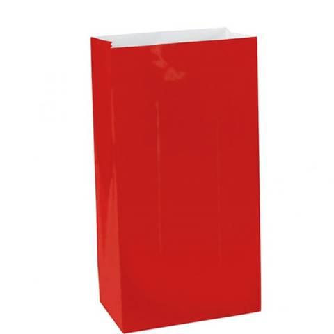 Bilde av Røde Party Poser 16cm 12stk