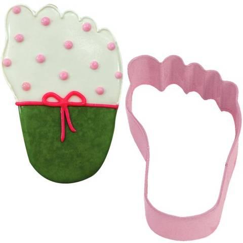 Bilde av Kakeform Rosa Babyføtter 8.9cm