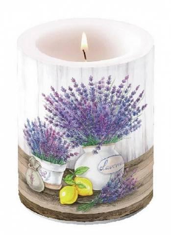 Bilde av Vakkert Kubbelys Lavendel 12cm
