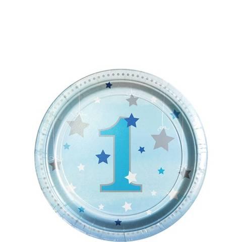 Bilde av Twinkle One Little Star Blå Desserttallerkner 1År 18cm 8stk