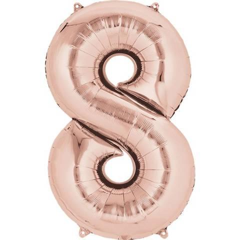 Bilde av Tallballong Folie Rosegull 40cm Nr.8