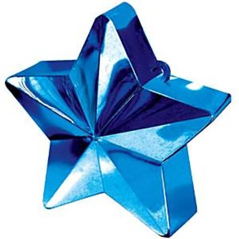 Bilde av Ballong Vekt Stjerne Blå 168g